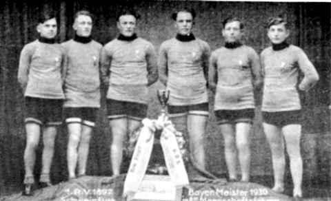 Bayerischer Meister im 100 km Mannschaftsfahren 1930 in Amberg