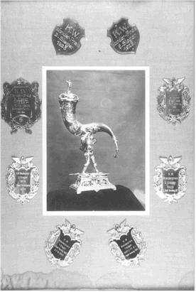 Der heiß umkämpfte Wanderpreis Karl Wütschner 17. Mai 1931.