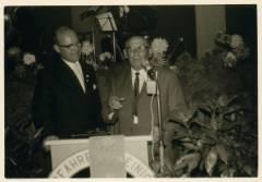 Ehrenmitglied Georg Birkel bei seiner Dankesrede