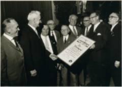 Hermann Rink, Oberbürgermeister Georg Wichtermann, Ludwig Spahn, Georg Birkel, Friedrich Müller, Franz