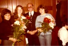Helga Leibold, Helga Zimmermann, 1.Vors. Ph. Zimmermann und Irmgard Ankenbrand.