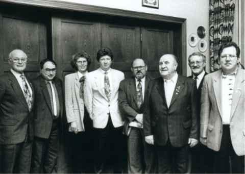 Aus Anlaß der Mitgliederversammlung des RV 92 wurden langjährige Mitglieder geehrt