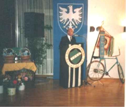 1. Vorstand Ph. Zimmermann bei seiner Festrede.