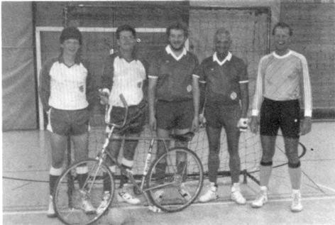 Aktive Radballer im Jubiläumsjahr 1992.