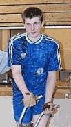 Radballspieler Harald Apfelbacher