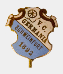 Vereinsnadel Velociped Club Germania 1892