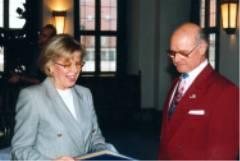 Philipp Zimmermann und Frau OB Grieser