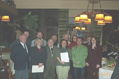 Mitgliederversammlung RV92 Schweinfurt 2003