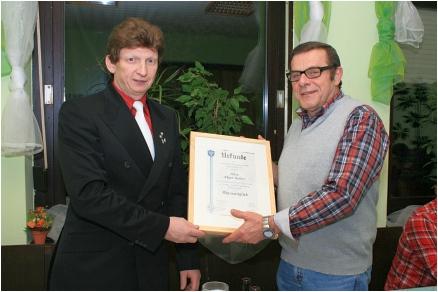 Edgar Vollert zum Ehrenmitglied ernannt